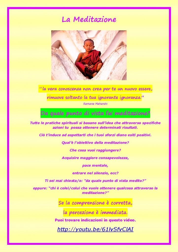 Advaita e la meditazione